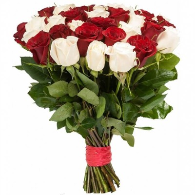 Ассорти 25 роз (60 см)