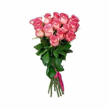 Букет бело-розовых роз 70см