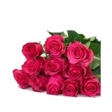 11 роз фуксия