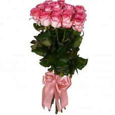 Букет из 7 бело-розовых роз 60см